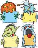 Halloween monsters characters. Halloween cartoon style  illustration: easy-edit layered  EPS10 file scalable to any size without quality loss Royalty Free Stock Image