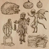 Halloween, Monsters, Magic - Vector collection. Halloween (Monsters, Magic and Fairy Tales) - Collection (no.14) of an hand drawn illustrations. Description Stock Image