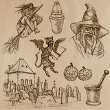 Halloween, Monsters, Magic - Vector collection. Halloween (Monsters, Magic and Fairy Tales) - Collection (no.19) of an hand drawn illustrations. Description Stock Photo