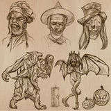 Halloween, Monsters, Magic - Vector collection Stock Images