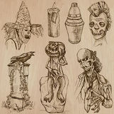 Halloween, Monsters, Magic - Vector collection. Halloween (Monsters, Magic and Fairy Tales) - Collection (no.18) of an hand drawn illustrations. Description Royalty Free Stock Photo