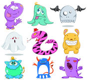 Halloween Monsters Pack 2. A vector illustration of cute funny and scary monsters for Halloween Royalty Free Stock Photography