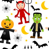 Halloween Monsters Seamless Pattern [2] Stock Images