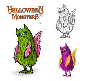 Halloween monsters spooky creature illustration EPS10 file Royalty Free Stock Photo