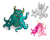 Halloween Monsters spooky  creatures set. Royalty Free Stock Photography