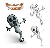 Halloween monsters spooky ghost illustration EPS10 file Stock Photography