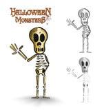 Halloween monsters spooky human skeleton EPS10 file. Stock Photos