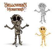 Halloween monsters spooky mummy illustration EPS10 Royalty Free Stock Images