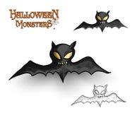Halloween monsters spooky vampire bat illustration EPS10 file Royalty Free Stock Images