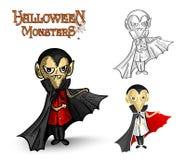 Halloween monsters spooky vampire illustration EPS Royalty Free Stock Photo
