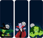 Halloween monsters vertical  banners Royalty Free Stock Photography