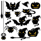 Halloween-Monstersatz Lizenzfreie Stockbilder