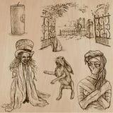 Halloween, monstruos, magia - Vector la colección Fotografía de archivo