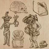Halloween, monstruos, magia - Vector la colección Imagenes de archivo