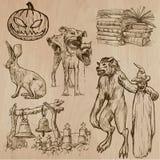 Halloween, monstruos, magia - Vector la colección Fotos de archivo libres de regalías