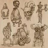 Halloween, monstruos, magia - Vector la colección Imagen de archivo libre de regalías
