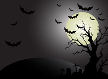 Halloween moon background. Tree Stock Photography