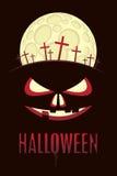 Halloween moon Stock Images