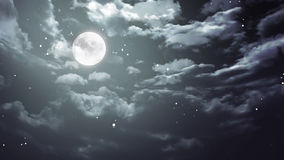 Halloween moon and dark sky wide Royalty Free Stock Photography