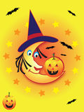 Halloween Moon Friends Stock Image