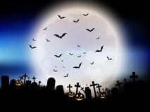 Halloween moon landscape Stock Photography