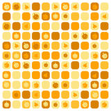 Halloween mosaic with pictures of pumpkins Royalty Free Stock Image