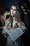 halloween Moskwa, CZERWIEC – 22, 2013 – Wieki średni Czarownica znak werdykt Inquisit Zdjęcia Stock