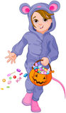 Halloween Mouse Child Royalty Free Stock Photo