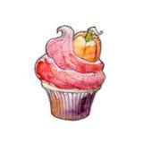 Halloween muffin Arkivbilder