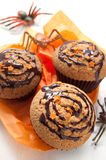 Halloween muffins Stock Photos