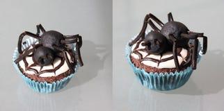 halloween muffinspindel två Royaltyfria Foton