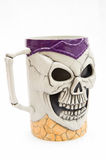 Halloween mug. A simple but frightening Halloween mug on a white background Stock Photos