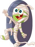Halloween Mummy Cartoon Vector Illustration Royalty Free Stock Photography