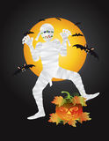 Halloween Mummy Carved Pumpkin Illustration Stock Image