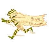 Halloween Mummy. Easy to edit vector illustration of running Halloween Mummy Stock Images