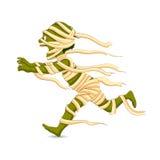 Halloween Mummy. Easy to edit vector illustration of running Halloween Mummy Royalty Free Stock Photography