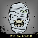 Halloween mummy head Royalty Free Stock Photo