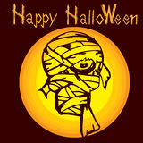 Halloween mummy zombie D Royalty Free Stock Images