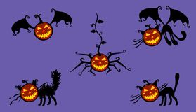 Halloween musical pumpkin Royalty Free Stock Photo