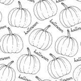 Halloween-Muster, Hand gezeichneter Vektorhintergrund vektor abbildung