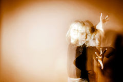 Halloween mystic photo with mixed light Stock Photography