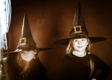 Halloween mystic photo with mixed light Royalty Free Stock Image