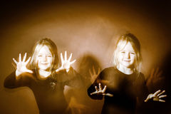 Halloween mystic photo with mixed light Royalty Free Stock Photo