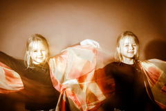 Halloween mystic photo with mixed light Stock Image