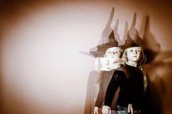 Halloween mystic photo with mixed light Royalty Free Stock Photos