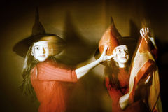 Halloween mystic photo with mixed light Stock Images