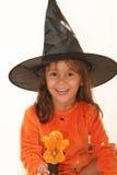 halloween nätt häxa royaltyfri bild