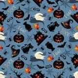 Halloween-Naadloos Patroon Als achtergrond vector illustratie