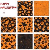 Halloween naadloze patronen Stock Afbeeldingen
