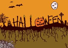 Halloween-nacht Stock Fotografie